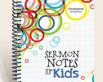 Sermon Notes for Kids / Worship Notes for Kids / Children's notebook / Kids journal
