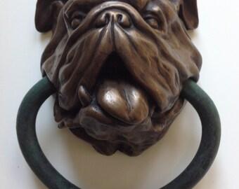 English Bulldog doorknocker