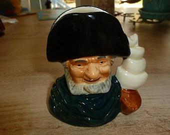 Captain Ahab Staffordshire Toby Mug