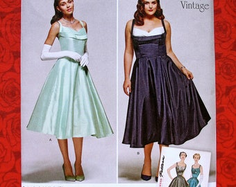 Simplicity Sewing Pattern 1155 Dress Formal Evening Gown, 1950's Retro Vintage Fashion, Sizes 10 12 14 16 18, Wedding Party Bridesmaid UNCUT