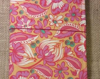 Vintage floral fabric travelers notebook - planner - fauxdori - favricdori - junque journal