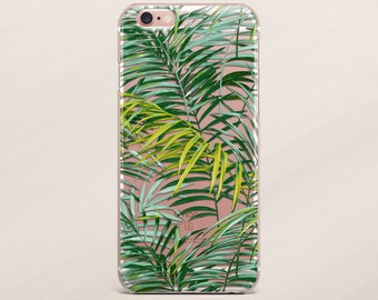 iPhone 7 Case Transparent Case Samsung Galaxy S8 Plus Tropical Case iPhone 5s Case Leaf Cover for Samsung Galaxy S8 Case for Samsung Note 4