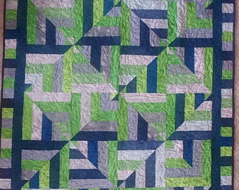 SEAHAWKS inspired lap quilt
