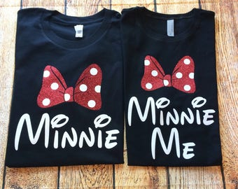 Minnie Me Shirt, Mommy and Me Disney Shirts, Minnie Me, Minnie Shirt, Glitter Minnie, Matching Minnie Family Shirts, Disney Family Shirt