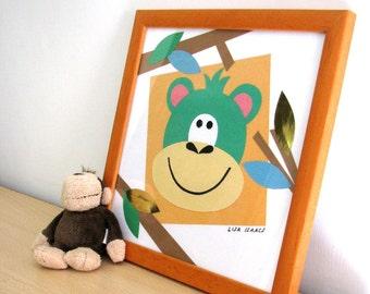 Monkey Papercut Picture