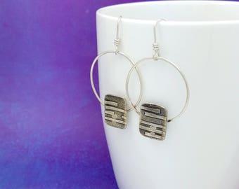 silver hoops   hoop earrings   bohemian jewelry   boho earrings   minimalist jewelry   modern earrings   big earrings   silver earrings