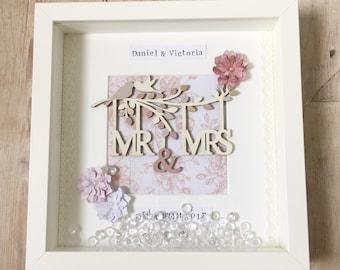 Wedding Gift/Wedding Frame/Personalised Frame/Keepsake/Anniversary Gift