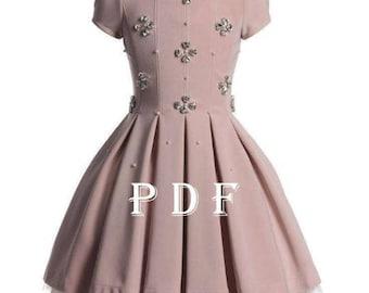 Dress PDF pattern sizes 80 children's sewing pattern Instant download digital pattern