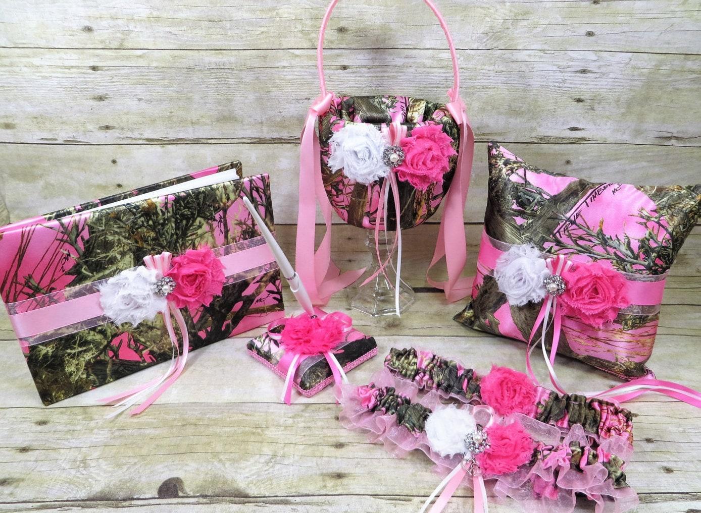 Pink Camo Wedding Set Rose Quartz Wedding Set True Timber