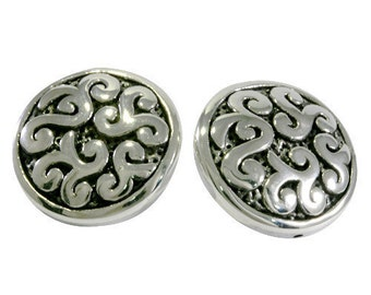 Studs, big and round , electroforming - 6148