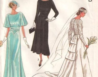 Simplicity 9560 RETRO 1920s Bride and Bridesmaids' Gowns 60th Anniversary Pattern ©1988