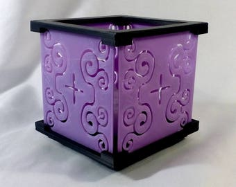 LED Tealight Candle Holder Scroll Design