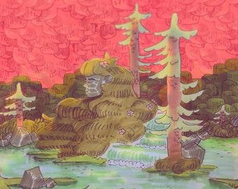Forest Maiden Print