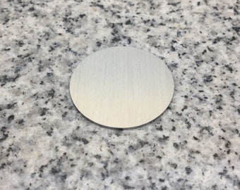 MAGNETIC 1 1/8'' (29mm) Round Disc Blank, 22g Stainless Steel - LMR09