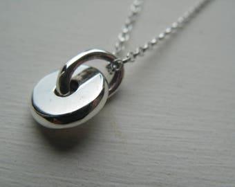 Small Silver Fidget Spinner Pendant