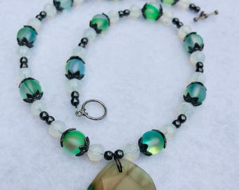 Cool Mint Green Pendant Necklace