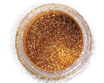 Gold Disco Glitter, Non Edible Confectionary Glitter, Fondant Glitter, Gold Gumpaste Glitter, Superfine Gold Glitter (5g)