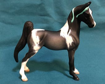 Breyer Custom - Blue Roan Tobiano Saddlebred Stablemate