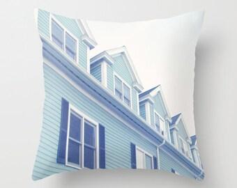 Photo Pillow Cover Decorative Teal Pillow Summer Pillow Cottage Pillow Ocean Decor Beachy Pillow