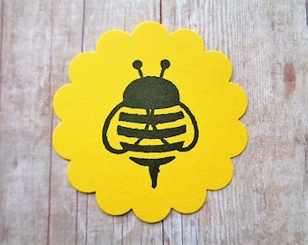 Bumble Bee Stickers Envelope Seals Kids Bee Party Labels Cardstock