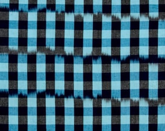 15108 Anna Maria Horner  Loominous Checkered past in sky color  -  1/2 yard
