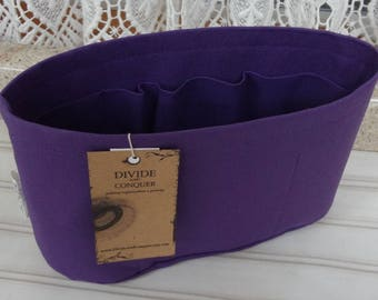 Purple / Purse ORGANIZER Insert SHAPER / Flexible or Stiff Bottom / STURDY / 5 Sizes Available / Check out my shop for more colors & styles