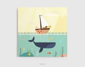 Darby + Dot™ - Ocean Adventures - impression sur toile