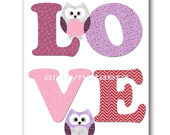 Owl Nursery Download Art Printable Nursery Print Baby Girl Nursery Decor Baby Art Digital Pdirint Digital Art 8x10 11X14 INSTANT DOWNLOAD