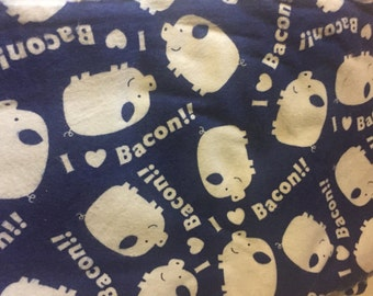 I love bacon pig flannel fabric - rare and out of print! 1/2 yard