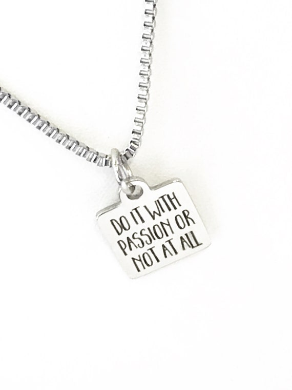 Success Gifts, Do It With Passion Or Not At All Necklace, Success Quotes, Success Jewelry, New Job Gift, Direct Sales Team Gifts