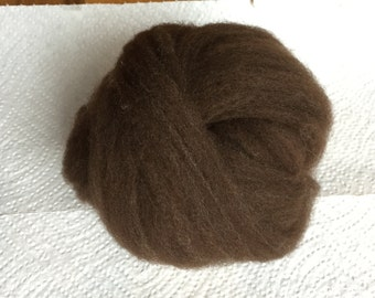 Chocolate Brown CVM / Romeldale combed top roving