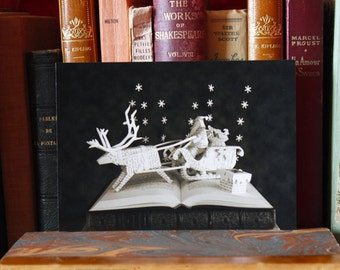 "Paper Sculpture Fineart Postcard ""Christmas stories"""