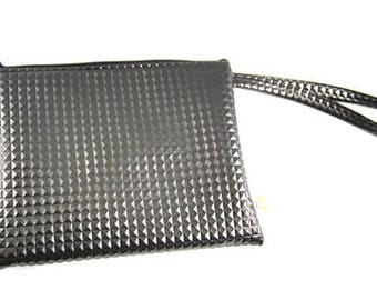 Clutch bag in imitation 3D graphite