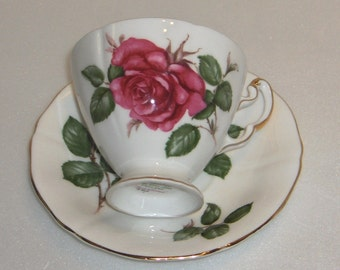 Adderley Symphonie Pattern 11825 Roses Cup and Saucer Fine Bone China Made in England  Free Standard Shipping in the U.S.