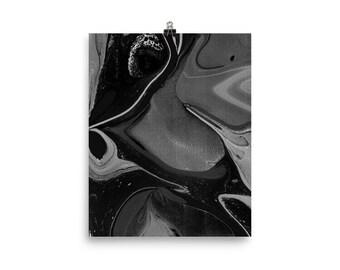 Experimental marble black print