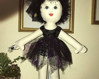 Rag Doll, Witch, Halloween, Baby Shower, Girl's Birthday, Princess, Toy, Soft Toy, American Girl, Ballerina, Collectible
