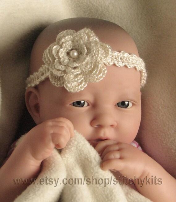 Crochet Pattern For Baby Headband Child Adult Flower Headband Instant Download Pdf