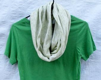 Vert feuille blanche feuilles extensible en coton Jersey Tricot écharpe