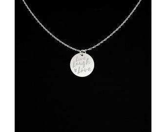 Live Laugh Love Necklace - Live Laugh Love Jewelry - Live Laugh Love Gift