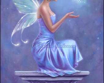 Fairy Butterfly Art Print Opalite