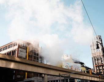 Detroit Photography - Steamy People Mover