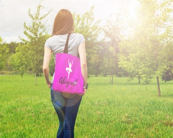 Personalized Dance Bags, Dance Gifts For Best Friends, Gift For Dancer, Dance Teacher Gifts, Dance Tote Bag Personalized Ballet Bag