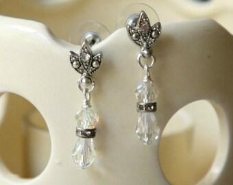 Swarovski Crystal Bridal Earrings Formal Wear Dangle Earrings