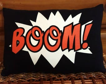 """BOOM! Graphic Art 16"""" by 12"""" Decorative Pillow"""
