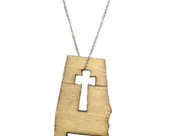 Alabama Forever Cross Necklace