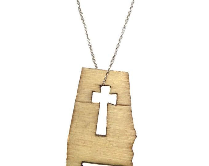 Alabama Forever Cross Necklace