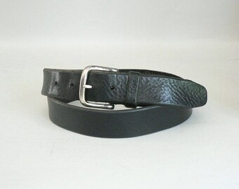 Mens 42 / 105 Vintage Black Leather Belt