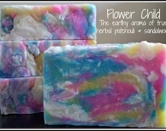 Flower Child - Rustic Suds Natural - Organic Goat Milk Triple Butter Soap Bar - 5-6oz. Each