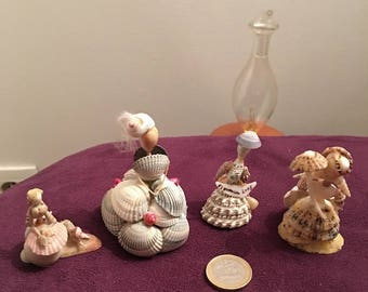 Tiny cute vintage Seashell dolls