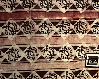 African print fabric, Batik, African Wax Print, wine and brown batik, African Ankara, African Material, sold by the yard